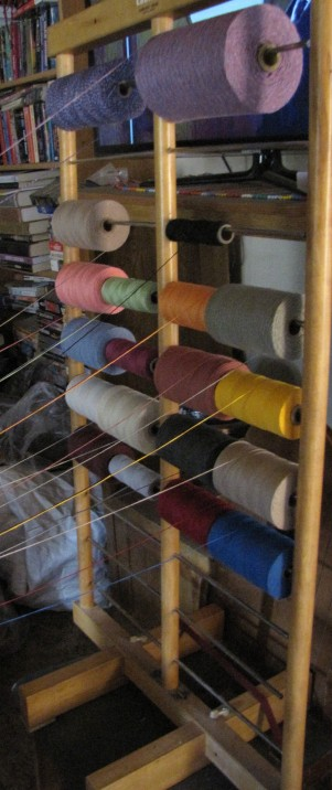 This is a simple spool rack used for warping.
