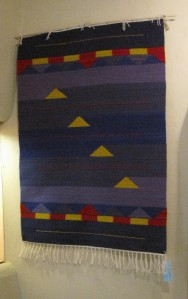 Wall hanging by Bettye Sullivan.