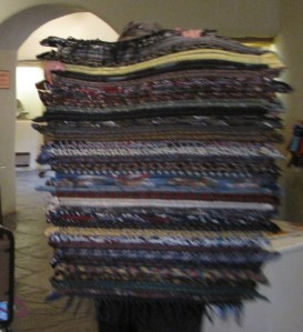 Necktie rug by Elaine Anaya.