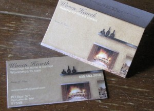 My first business cards.
