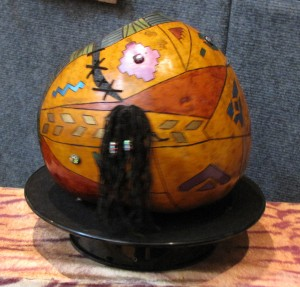 Here is the backside of that same hollowed out gourd, by Eye of the Beholder.