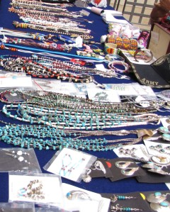 The ladies of the NaNeelzhiin Women's' Craft Circle put on a beautiful display.
