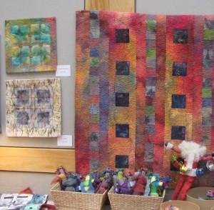 Artist Renee Brainard Gentz showed off some fabulous pieces made from silk.