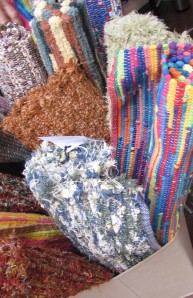 Rag rugs by Some Enchanted Weavings.