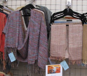 Shawls & scarves by Some Enchanted Weavings.