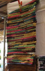 This is a rug made from sweaters (by Woven Hearth).