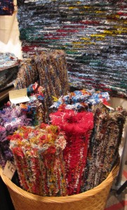 A variety of our wool shag rugs.
