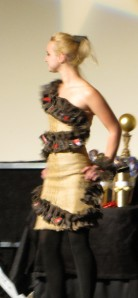 Here is that burlap sack dress.
