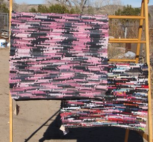 These 2 rugs are made from socks. Yep, lots and lots of socks.