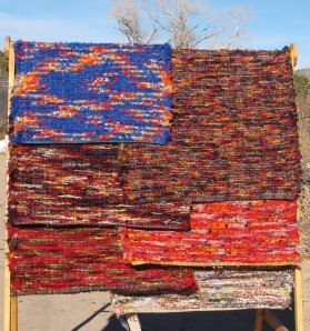 Here are a variety of wool shags for the 2013 Fuller Lodge Affordable Arts Show.