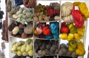 More skeins and roving at the ATTL booth.