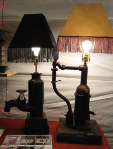 Water pump lamps by Imperfection, LLC