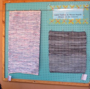 Rag rugs by Woven Hearth (left - bedsheet material, right- blue jeans).