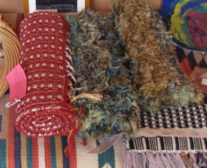 Table runners by TDLT Fiber Artists.