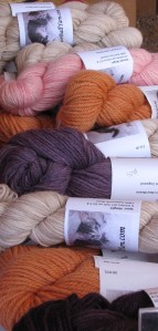 Skeins by Hairball Yarns.