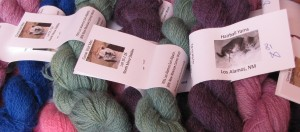 More skeins by Hairball Yarns.