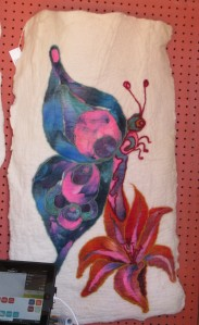 Felt work by Las Golondrinas volunteer Nicole Blais.
