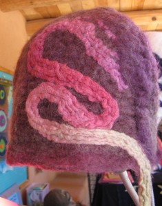 Felt hat by Felt Free - I see a dragon or Sky Eel!