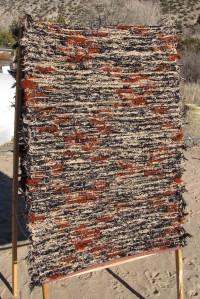 Wool shag, 28inx78in, Browns & black