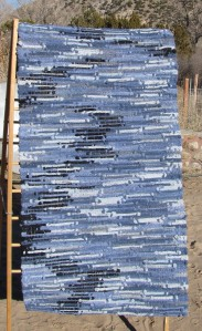 Sock rug, Blue Heartbeat