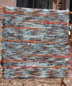 Wool shag, Seafoam & Crushed Ladybug