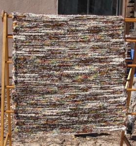 Wool Shag, 36inx86in, Lichened Boulder