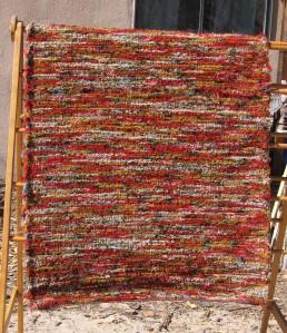 Wool shag, 36inx86in, Rusty Plow