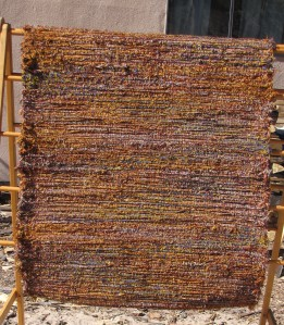 Wool shag, 36inx86in, Crushed Pyrite