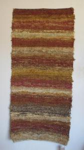 Cotton-rayon shag, 30inx69in, Desert Light
