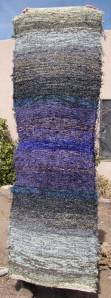 Cotton-rayon shag, 28inx82in, Marina Deep