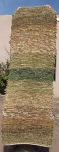 Cotton-rayon shag, 28inx82in, Spring Rising