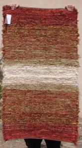 Cotton-rayon shag, 28inx50in, High Noon