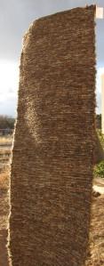 Cotton-rayon shag, 28inx88in, neutrals - steel, tans