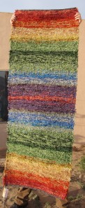 Cotton-rayon shag, 28inx74in, Rainbow Rug
