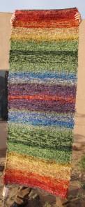 Cotton-rayon shag, 28inx74in, Rainbow Rug