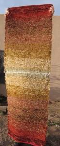 Cotton-rayon shag, 28inx80in, High Noon III
