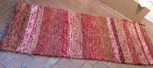 Cotton-rayon shag, 28inx77in, Cinnamon II