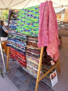 Weavings and knitted items by Cabin Textils & Woven Hearth.
