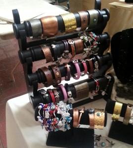 Bracelets by Carmen Sena-Todd.