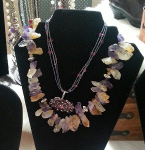 Amethyst necklace by Carmen Sena-Todd.