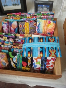 Little wallets by SW Women's Fiber Arts Collective.