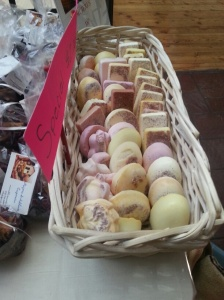 Hand-made soaps by Mujeres de Adelante Cooperative.