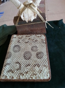 This is the personal artist book for Wendy Capek. I really liked the snakeskin cover.