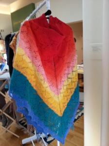 Rainbow shawl by Carol Eggers.