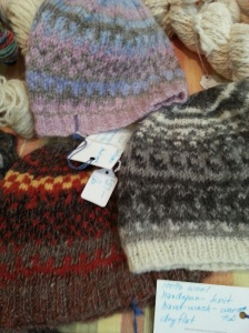 Knitted hats by Carol Eggers.